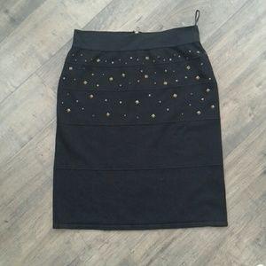 Black studded skirt